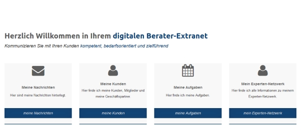 Mein Dialogsystem: Berater-Extranet und digitaler Kundenordner